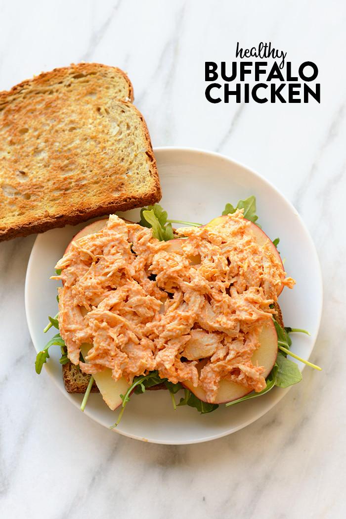 Buffalo Chicken Recipes Healthy  VIDEO Healthy Buffalo Chicken Recipe Fit Foo Finds