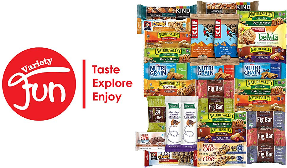 Bulk Healthy Snacks  Healthy Bars & Snacks Bulk Variety Pack Care Package 30