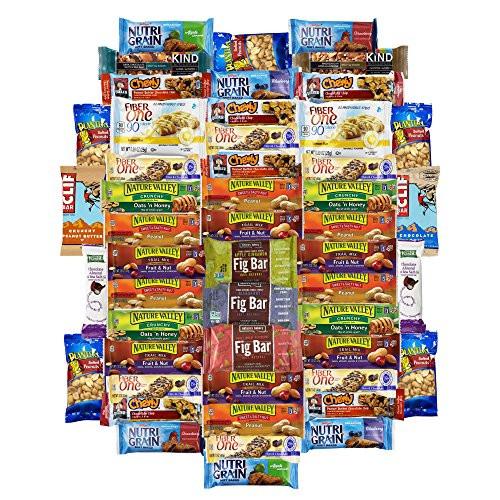 Bulk Healthy Snacks  Healthy Bars & Snacks Super Variety Pack Bulk Sampler 50