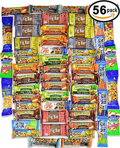 Bulk Healthy Snacks  Healthy College Care Package – Granola bars fruits snacks
