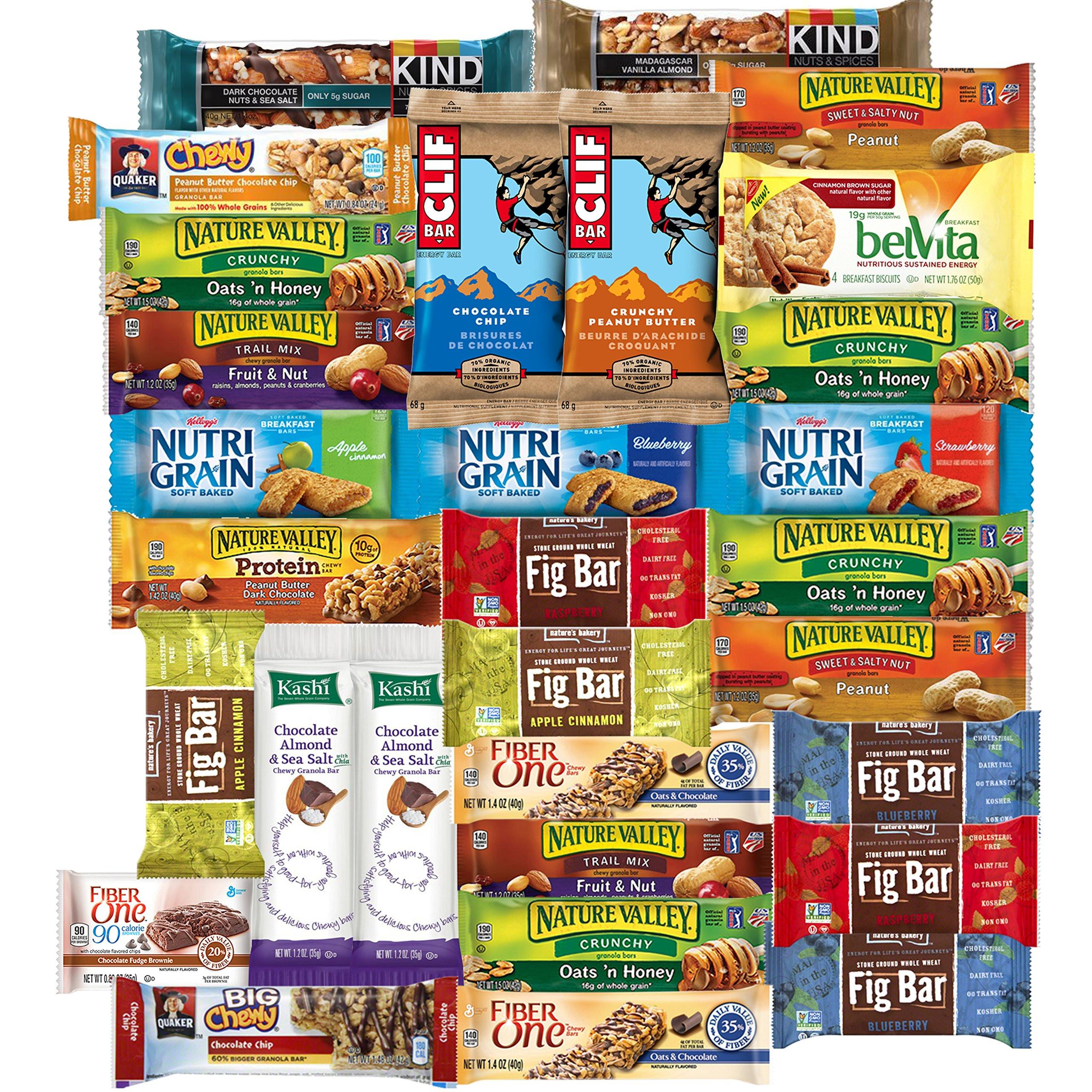 Bulk Healthy Snacks  Amazon Healthy Snack Box 36 Individually Wrapped