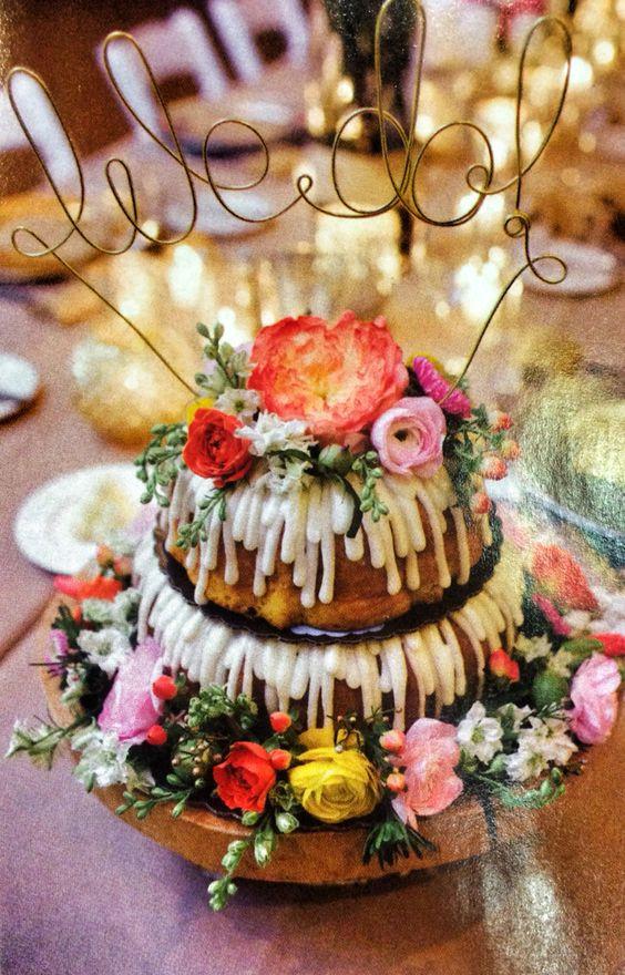 Bundt Wedding Cake  Bundt cakes Nothing bundt cakes and Cake wedding on Pinterest