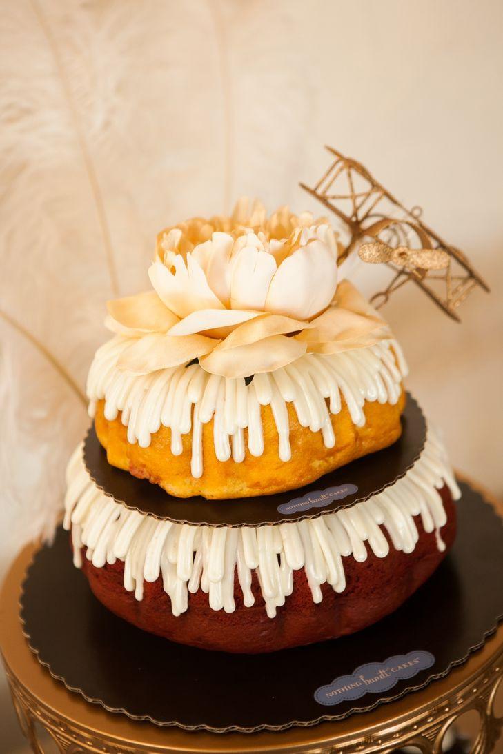 Bundt Wedding Cake  Bundt Wedding Cake With Airplane Topper