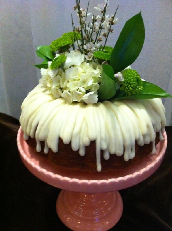 Bundt Wedding Cake  Brown Floral More Nothing Bundt Cakes