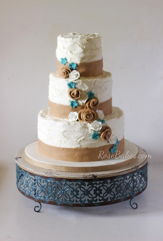 Burlap Wedding Cakes  What I Did Last Week Cupcakes Cookies & 6 Cakes