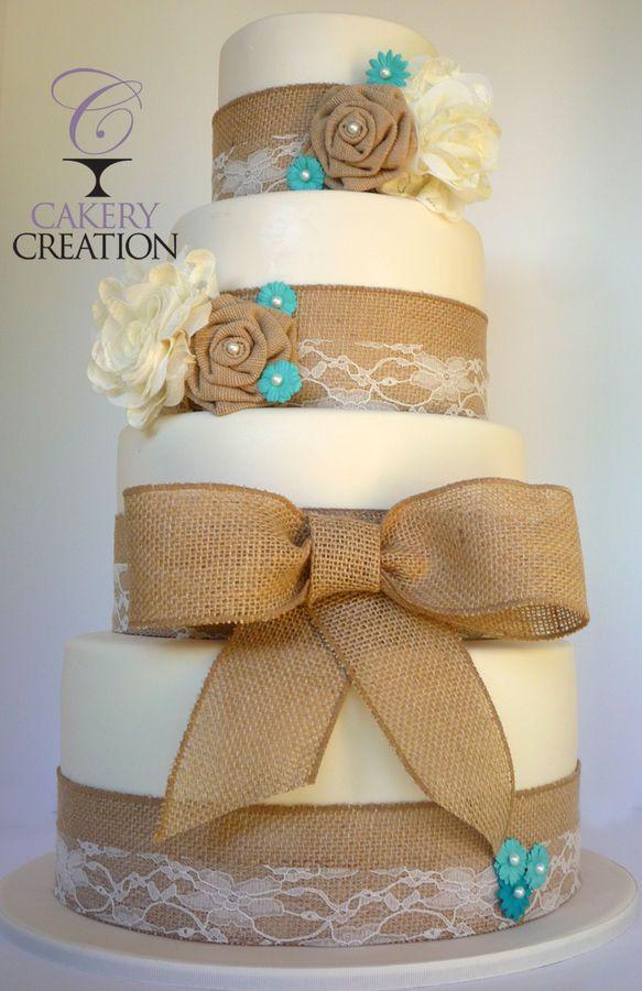 Burlap Wedding Cakes  Burlap Cake on Pinterest