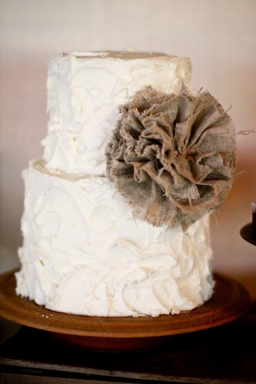 Burlap Wedding Cakes  Kara s Party Ideas Burlap and Lace Wedding Dessert Table