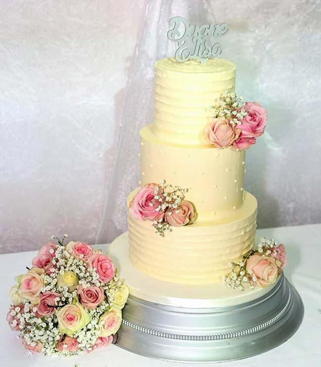 Buttercream Wedding Cakes  The Prettiest Buttercream Wedding Cakes