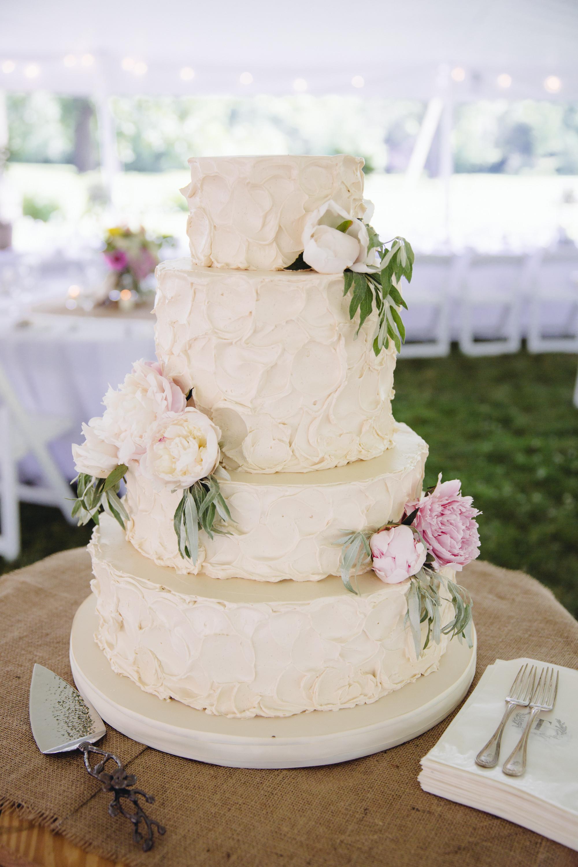 Buttercream Wedding Cakes  Monica and Brian RUSTIC buttercream