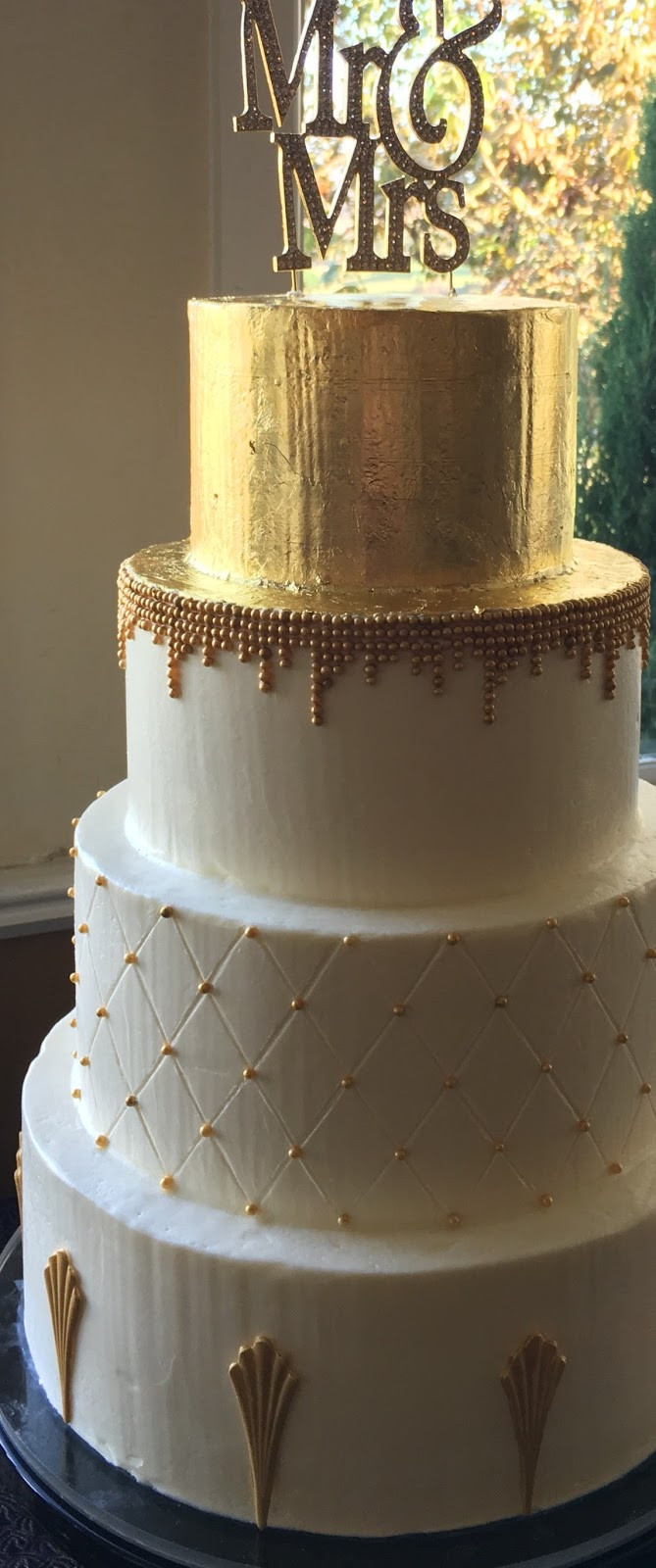 Buttercream Wedding Cakes  Penelope s Perfections Blog How to Add Gold to