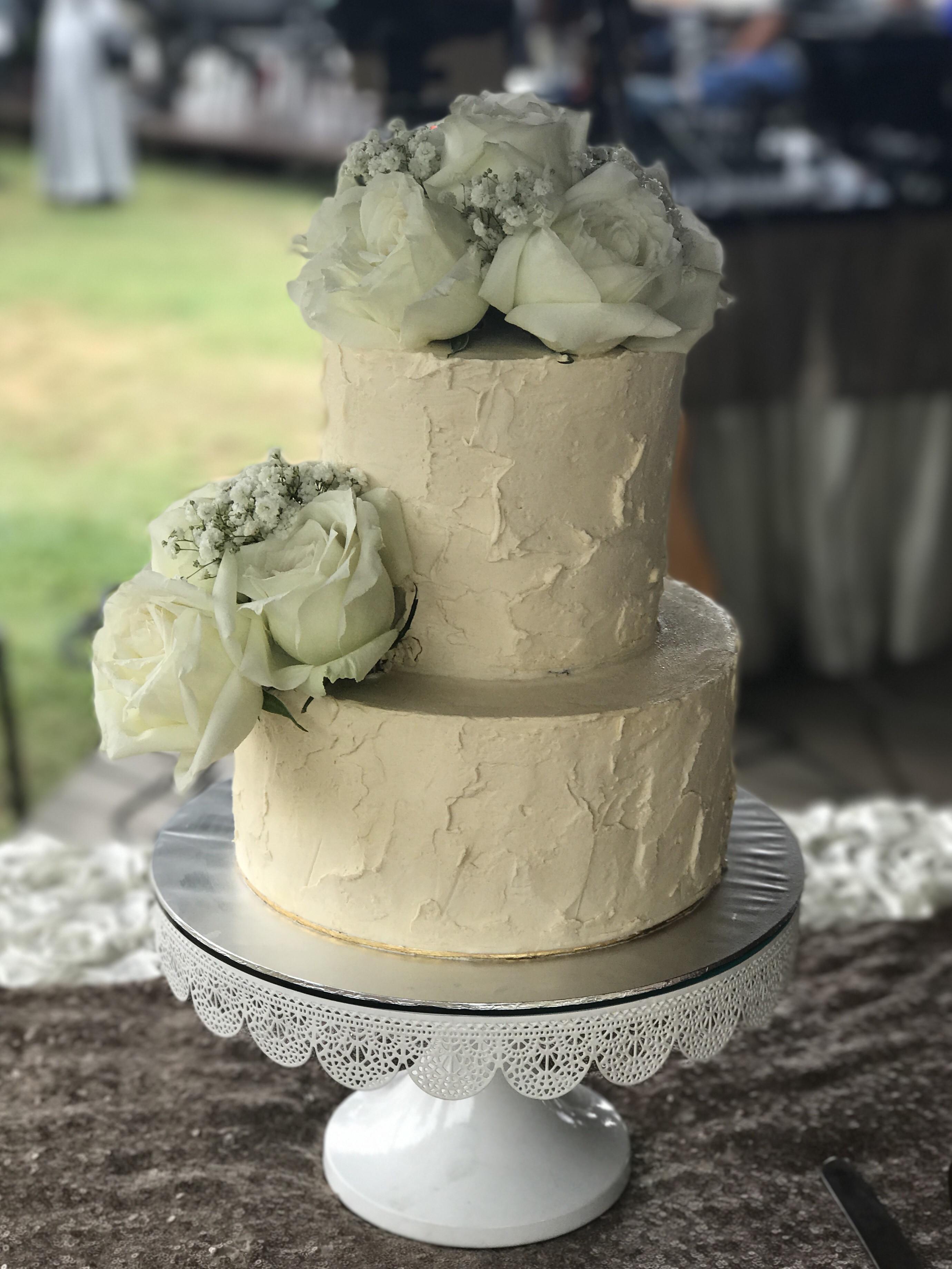 Buttercream Wedding Cakes  Rustic Buttercream Wedding Cake Sooperlicious Cakes