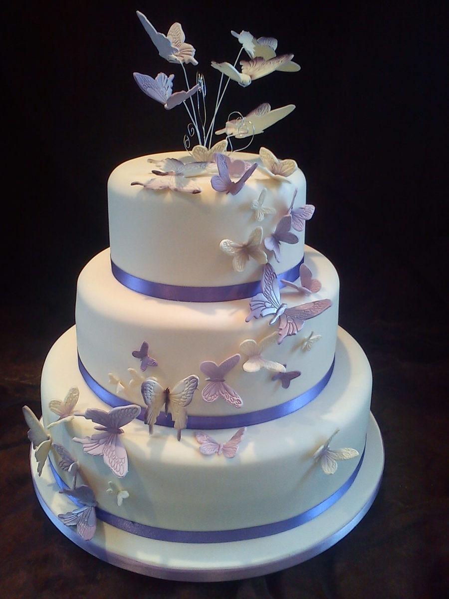 Butterfly Wedding Cakes  Butterfly Wedding Cake CakeCentral