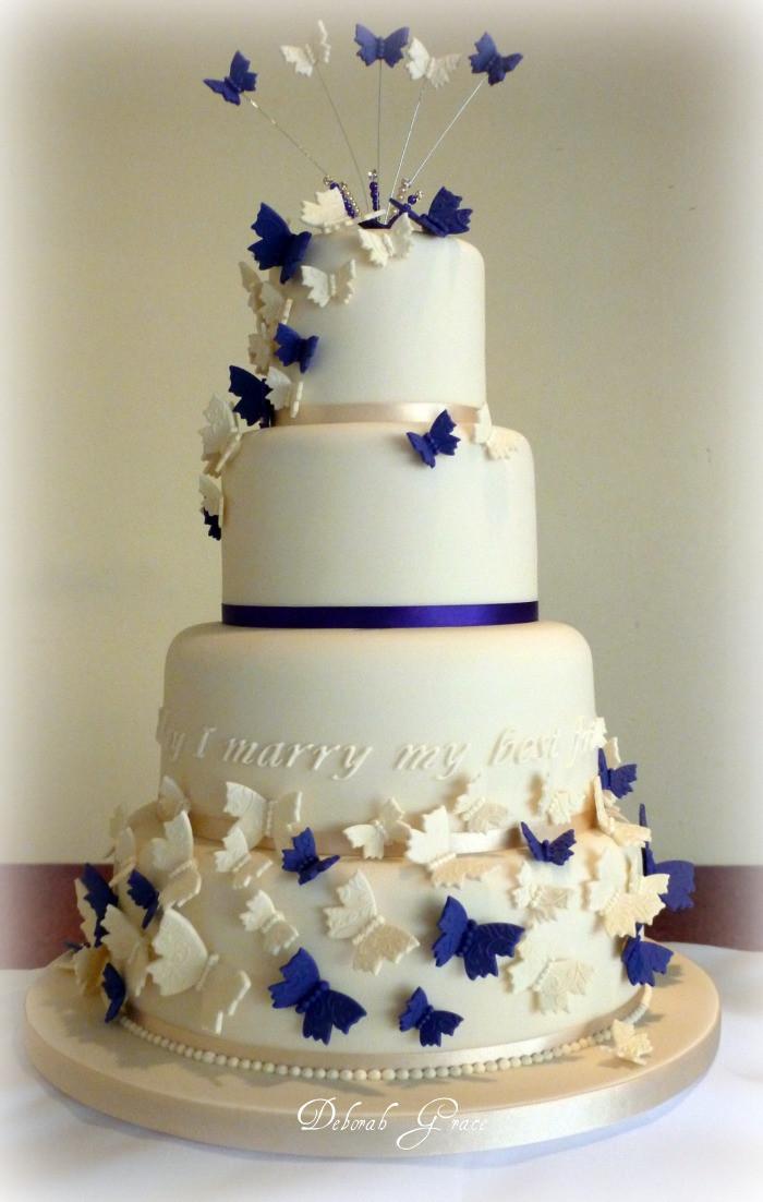 Butterfly Wedding Cakes  Butterfly Wedding Cake Decorations