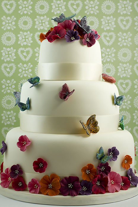 Butterfly Wedding Cakes  Wedding Juliet Stallwood Cakes & Biscuits