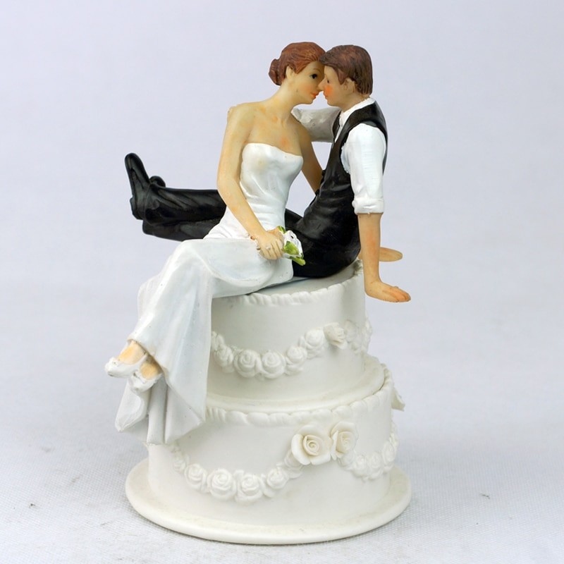 Buying Wedding Cakes  Aliexpress Buy Romantic Sweet Embrace Couple Wedding
