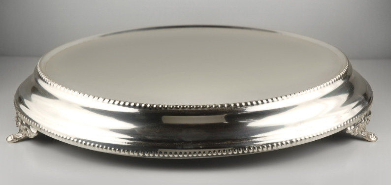 "Cake Plateaus For Wedding Cakes  Stainless Steel Cake Stand 15"" Cake Plateau"