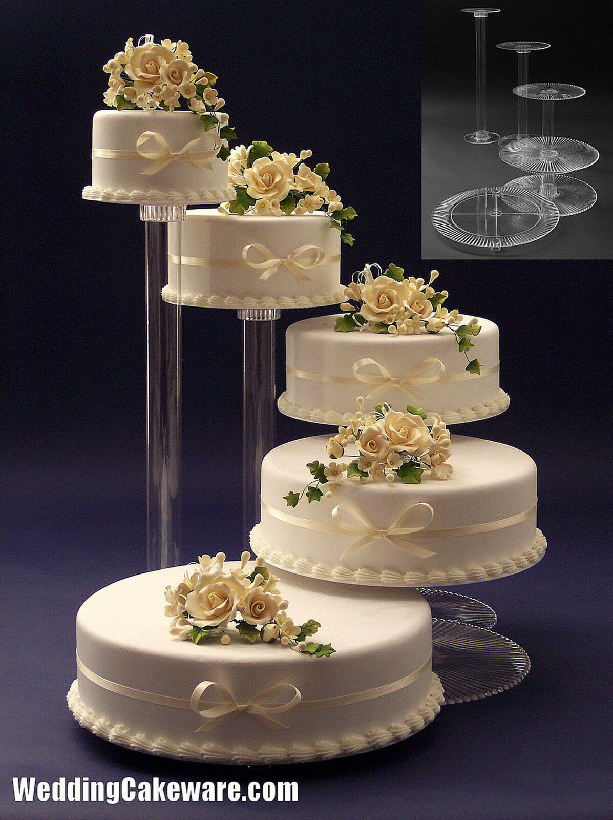 Cake Plateaus For Wedding Cakes  Cake Stand Wedding Bling Wedding Cake Stand Cupcake Base