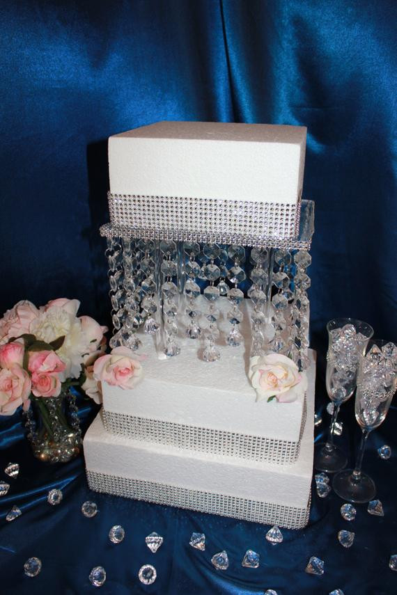 Cake Risers Wedding Cakes  Crystal Wedding Cake Stand 1 Tier Riser by CakeDress on Etsy