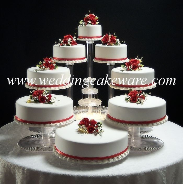 Cake Stands For Wedding Cakes  8 TIER CASCADING WEDDING CAKE STAND STANDS SET