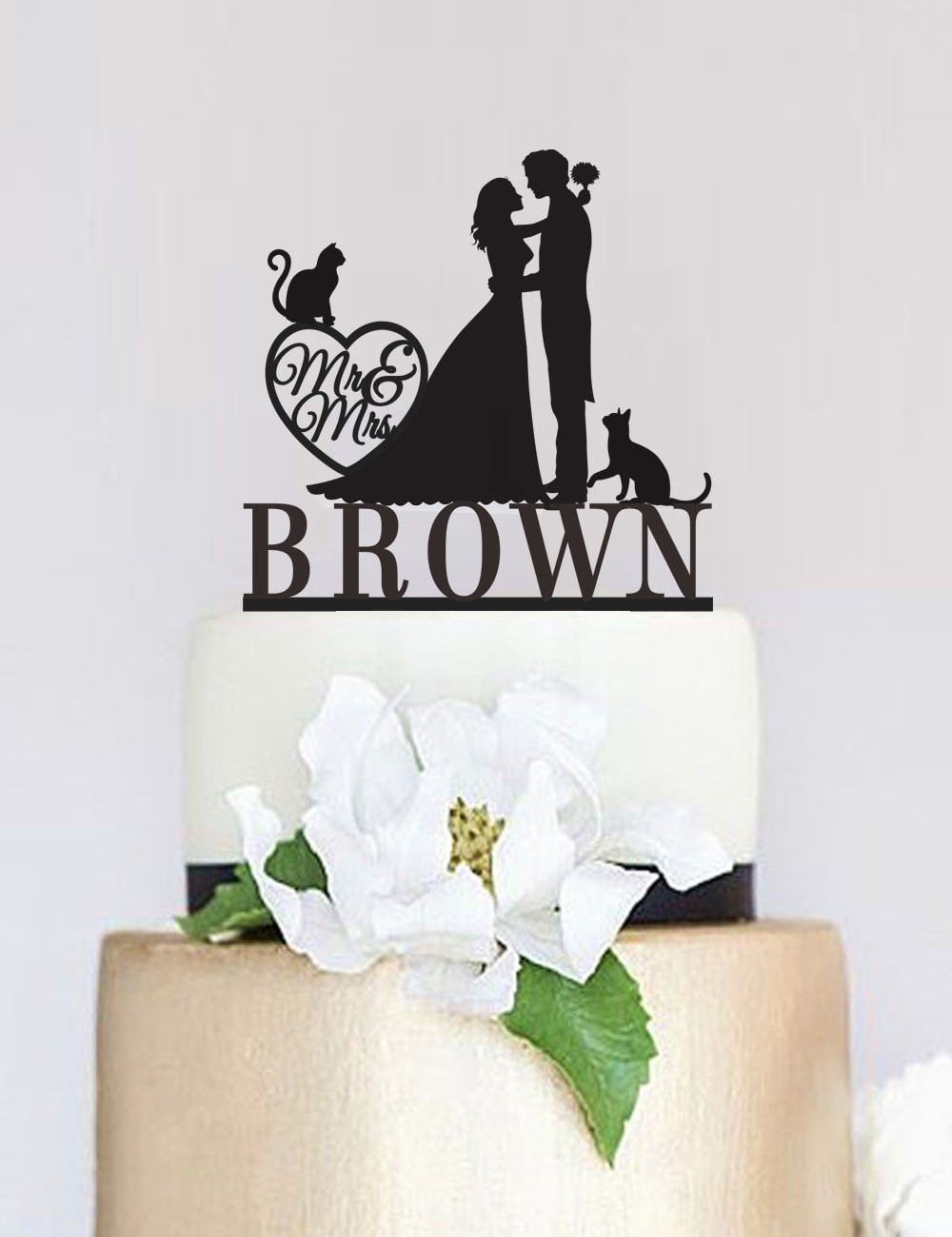 Cake Toppers For Wedding Cakes  Wedding Cake TopperMr and Mrs Cake Topper With Last
