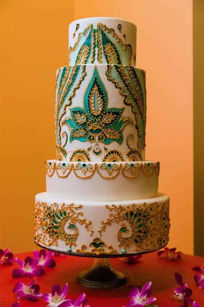 Cakes Design For Wedding  Top 33 Fantastic Henna Wedding Cake Designs SheIdeas