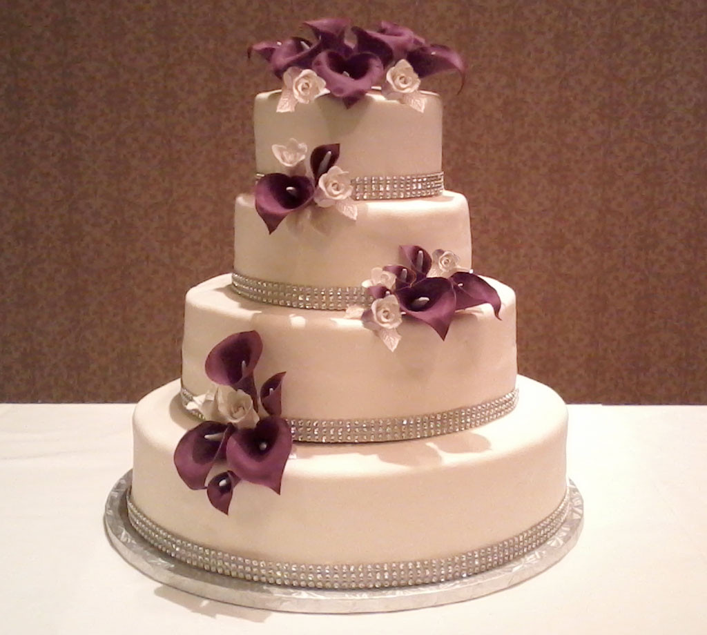 Cakes Design For Wedding  Red Calla Lily Wedding Cake Design 6 Wedding Cake Cake