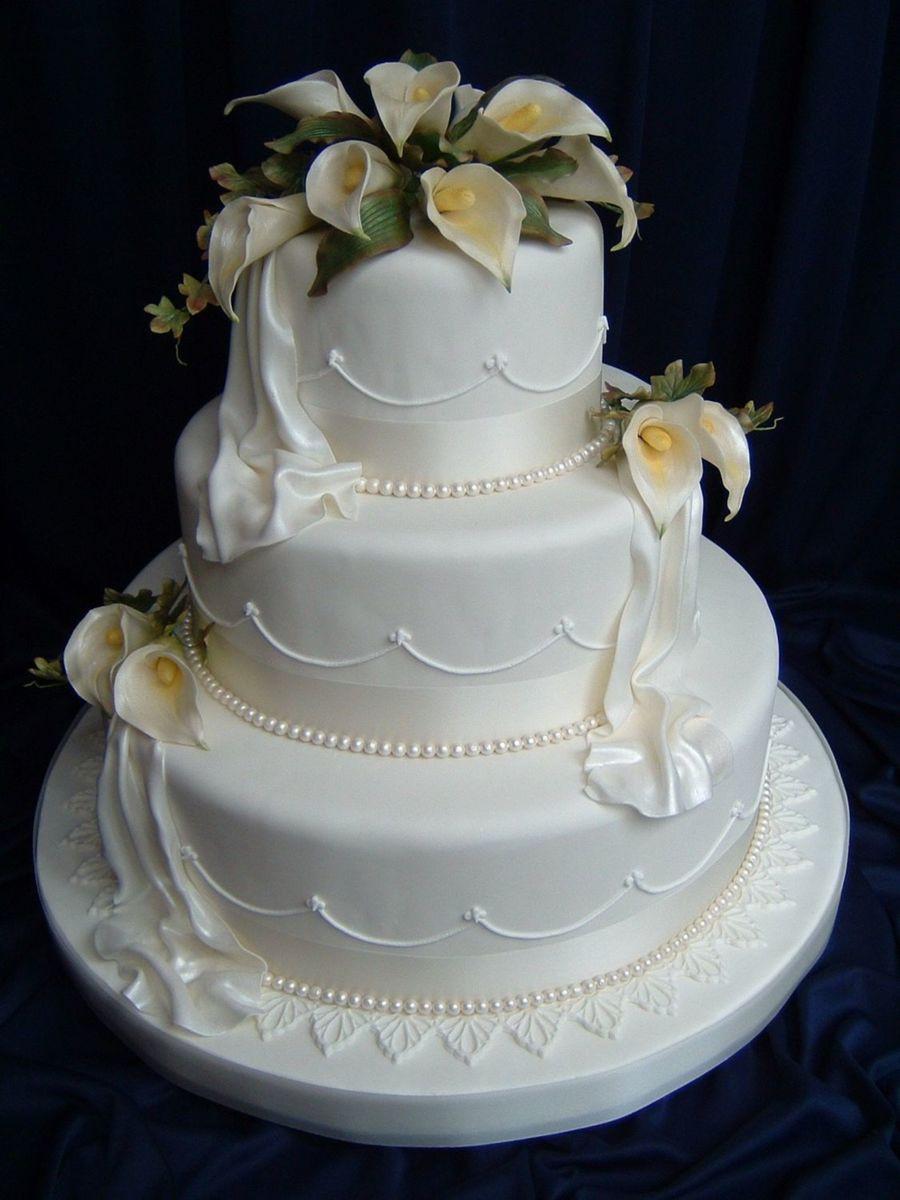 Calla Lilies Wedding Cakes  Calla Lily Wedding CakeCentral