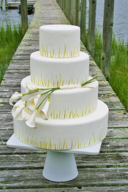 Calla Lilies Wedding Cakes  Wedding Cakes NJ Calla Lily Custom Cake PV