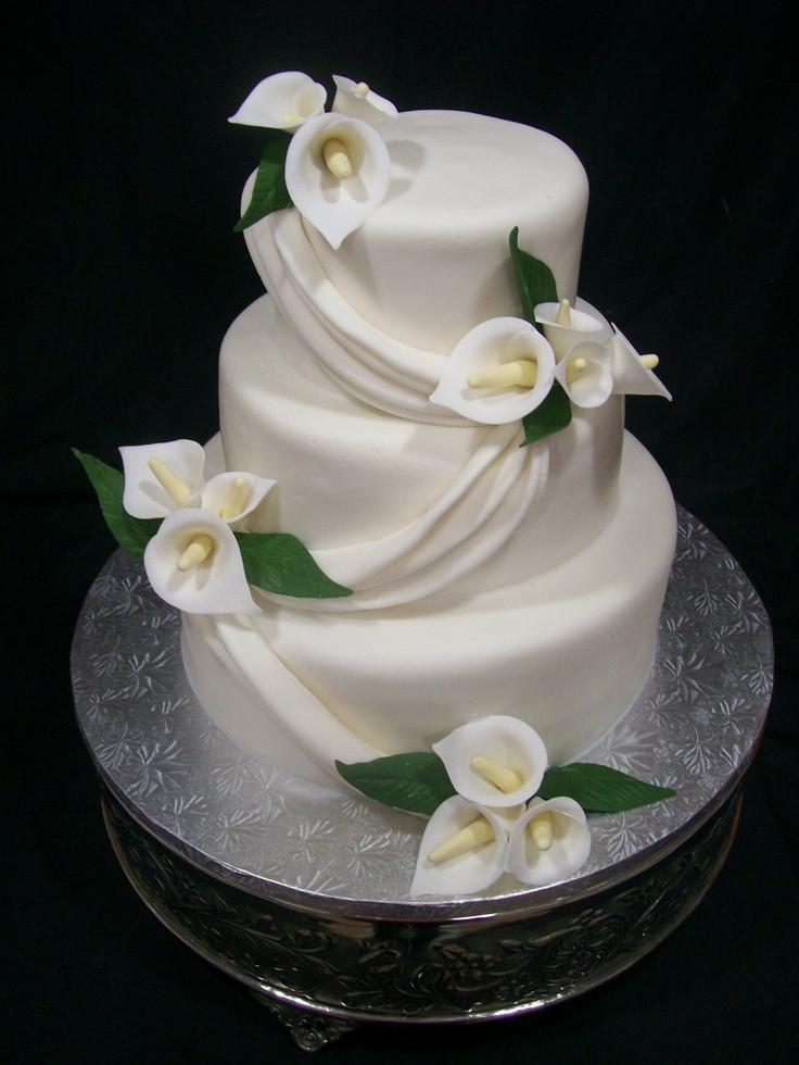 Calla Lilies Wedding Cakes  Calla lily wedding cake pictures idea in 2017
