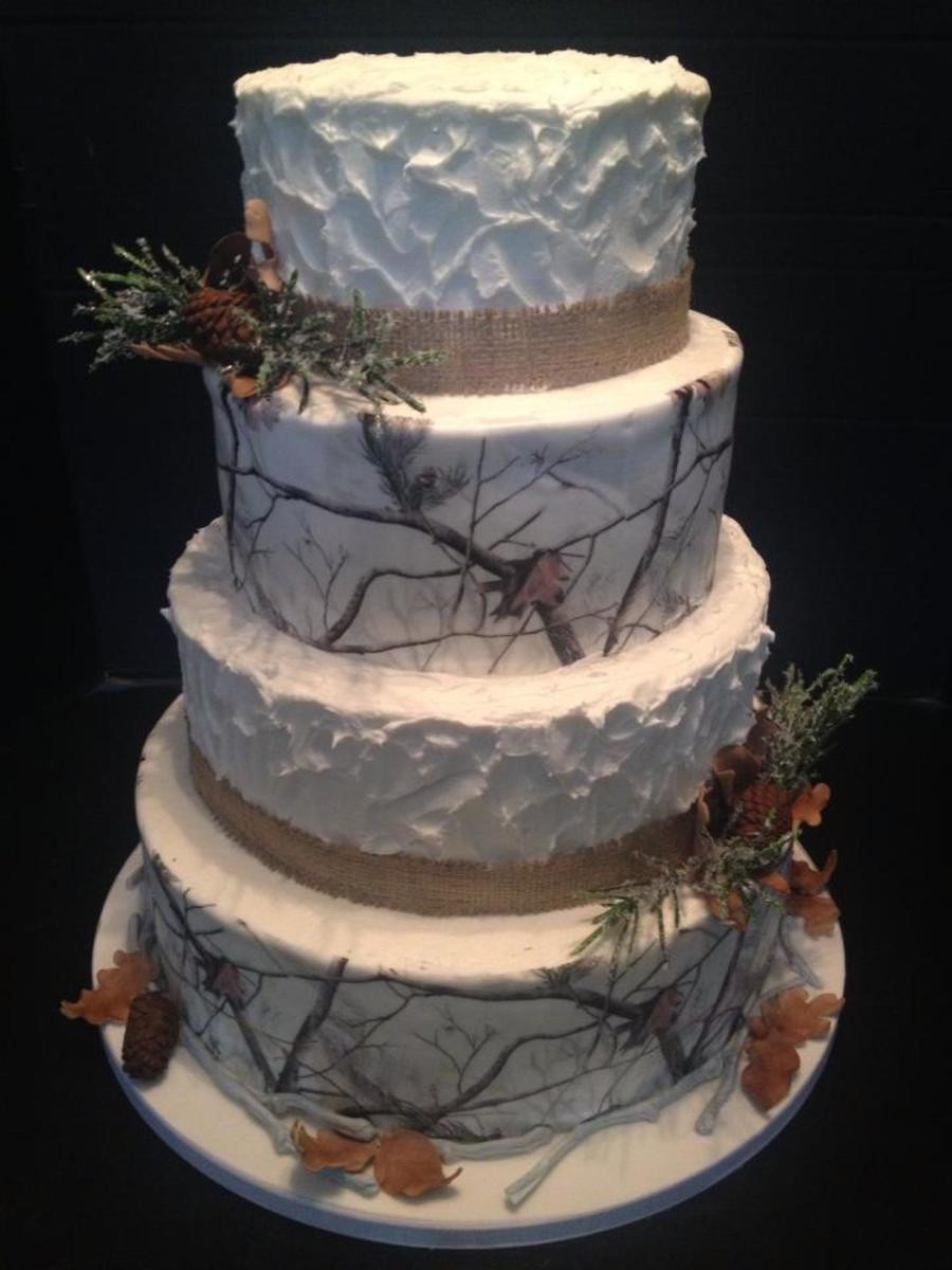 Camouflage Wedding Cakes  Winter Camouflage Wedding Cake All Accents Are Gumpaste