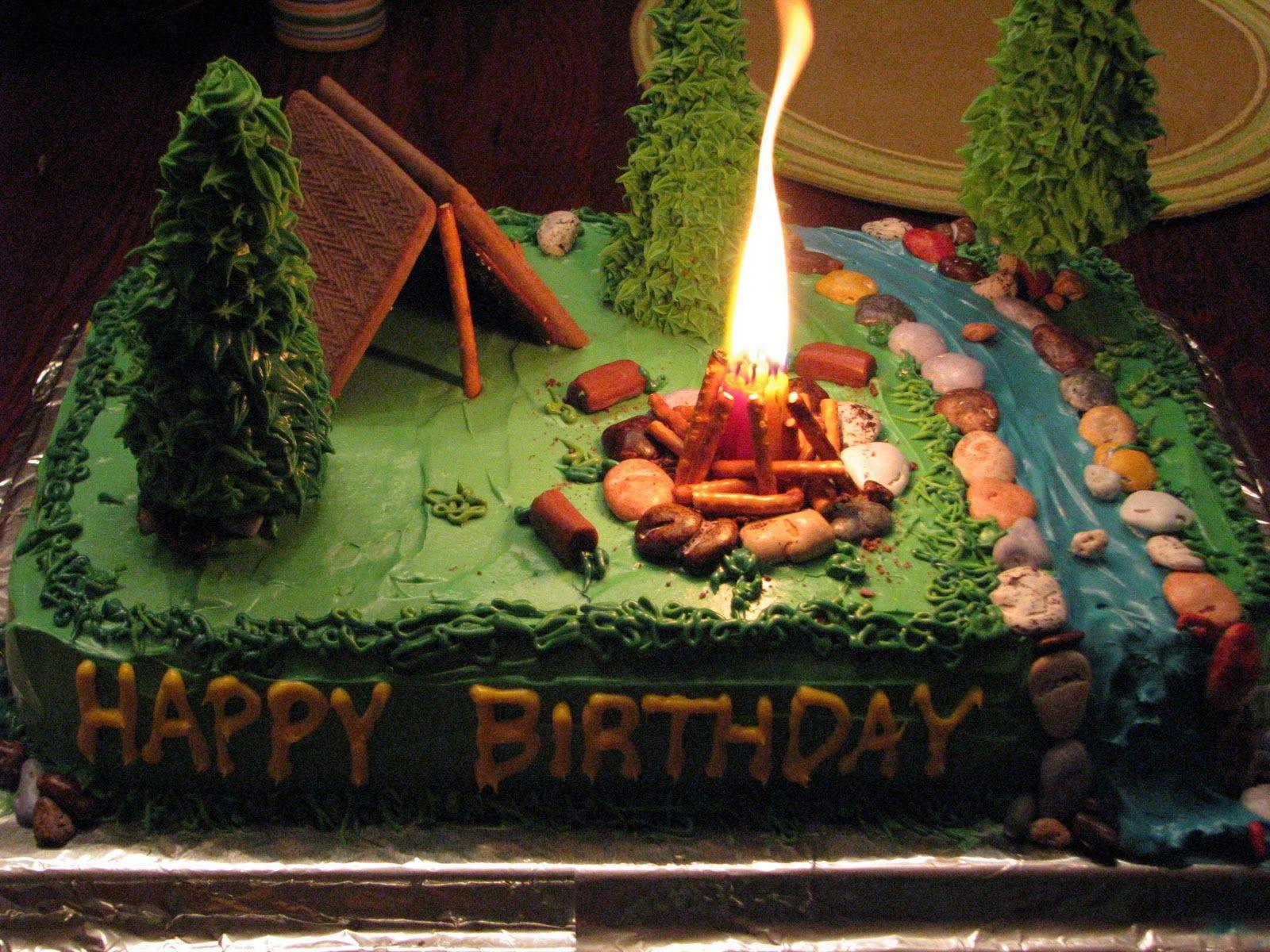 Camping Birthday Cake  Best 25 Camping birthday cake ideas on Pinterest