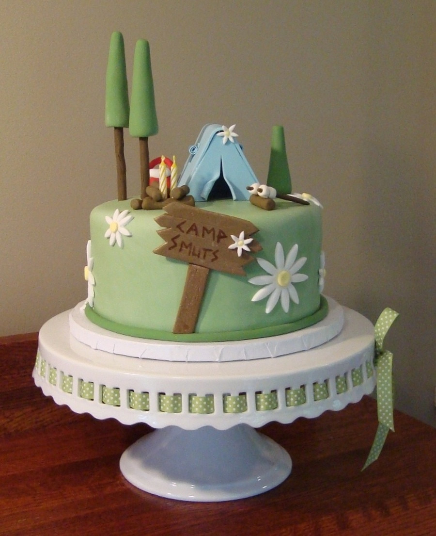 Camping Birthday Cake  Top Camping Cakes CakeCentral