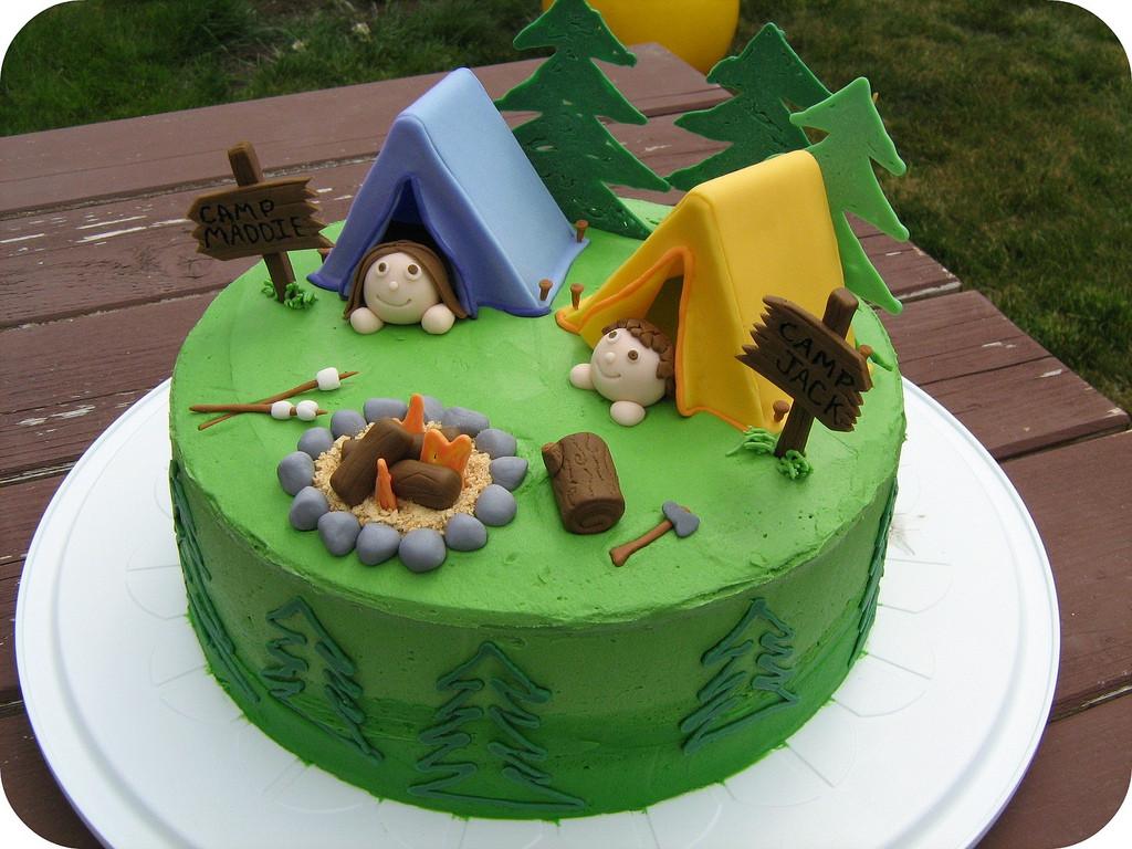 Camping Birthday Cake  camping cake Megan Berry