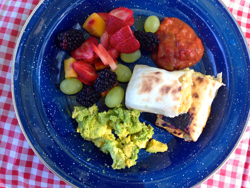 Camping Breakfast Burritos  camping breakfast burritos
