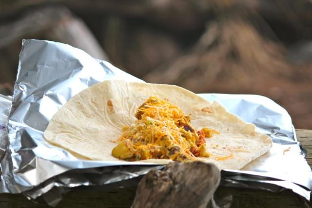 Camping Breakfast Burritos  Campfire Breakfast Burritos