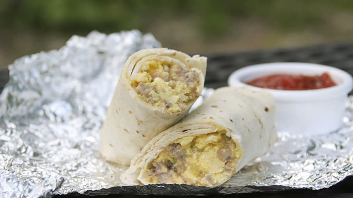 Camping Breakfast Burritos  How to Make Breakfast Burritos for Camping BettyCrocker