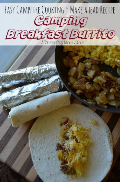 Camping Breakfast Burritos  Breakfast Burritos Freezer Friendly Camping Recipe