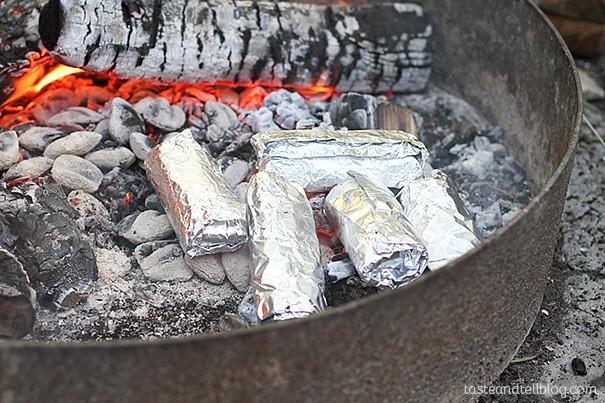 Camping Breakfast Burritos  Breakfast Burritos Campfire Style Taste and Tell