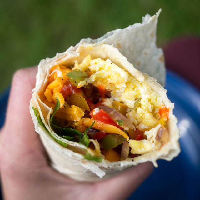 Camping Breakfast Burritos  the best camping recipes so you never have to eat hotdogs