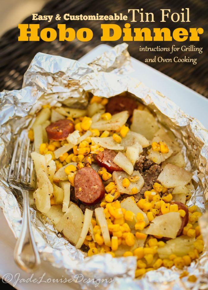 Camping Dinner Ideas  Easy Hobo Dinner Tin Foil Dinner Recipe
