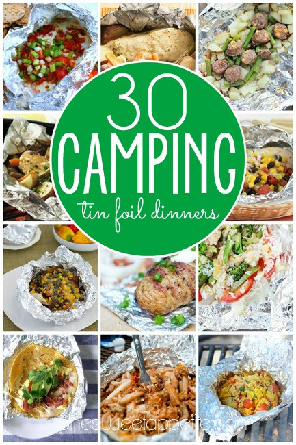 Camping Dinner Recipes  meal in foil
