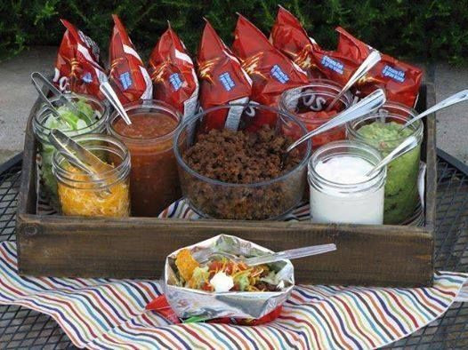 Camping Dinners For A Crowd  Best 25 Walking tacos ideas on Pinterest