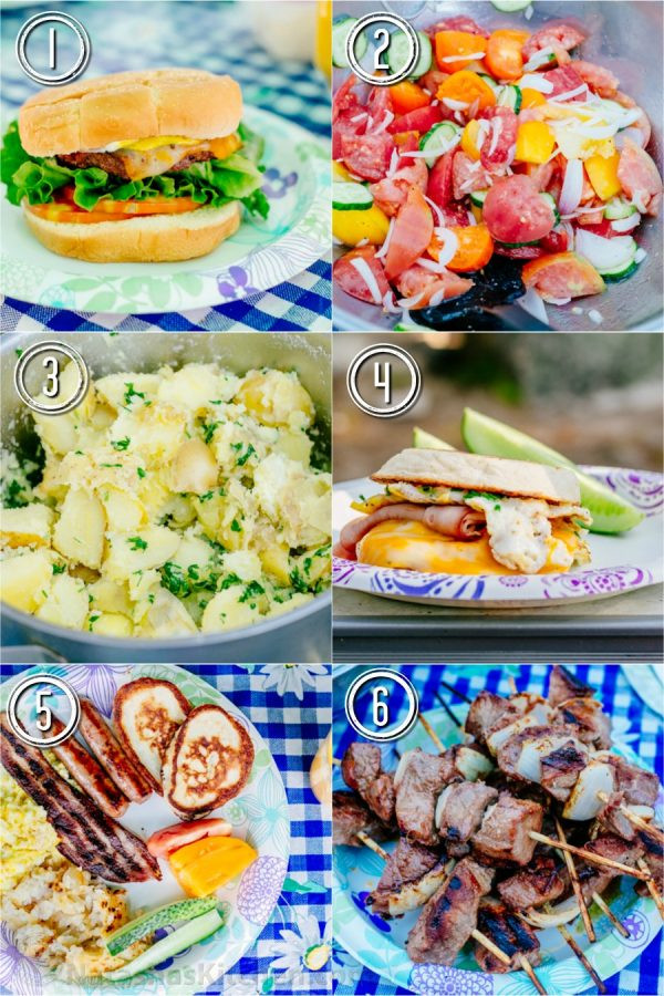 Camping Dinners For A Crowd  Camping Recipes for Breakfast Lunch and Dinner