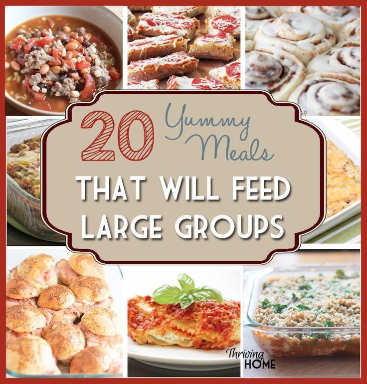Camping Dinners For A Crowd  Best 25 group meals ideas on Pinterest