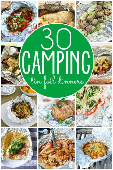 Camping Dinners For Two  138 best images about RV Camping food on Pinterest
