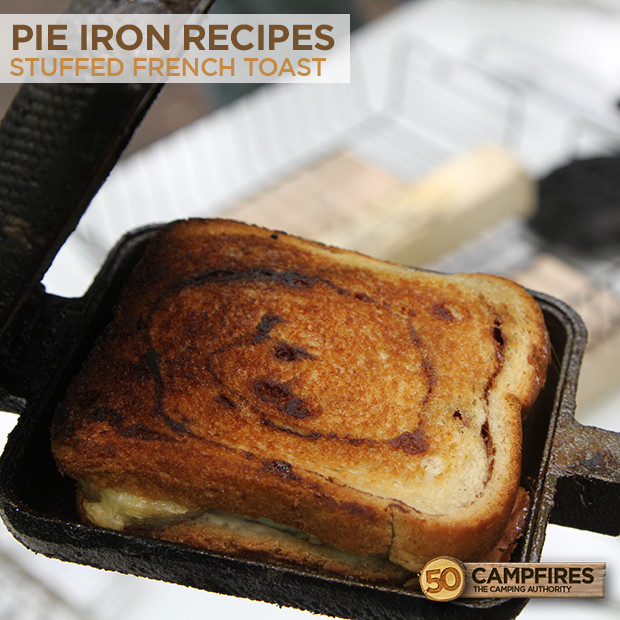 Camping French Toast  Easy Pie Iron Stuffed French Toast 50 Campfires