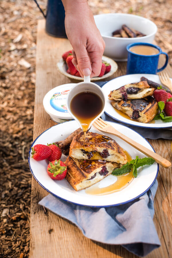 Camping French Toast  Easy Camping Breakfast Stuffed French Toast