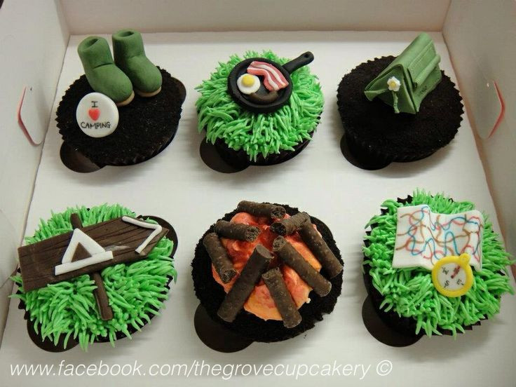 Camping Themed Cupcakes  Southern Blue Celebrations CAMPING THEMED CAKES CUPCAKES