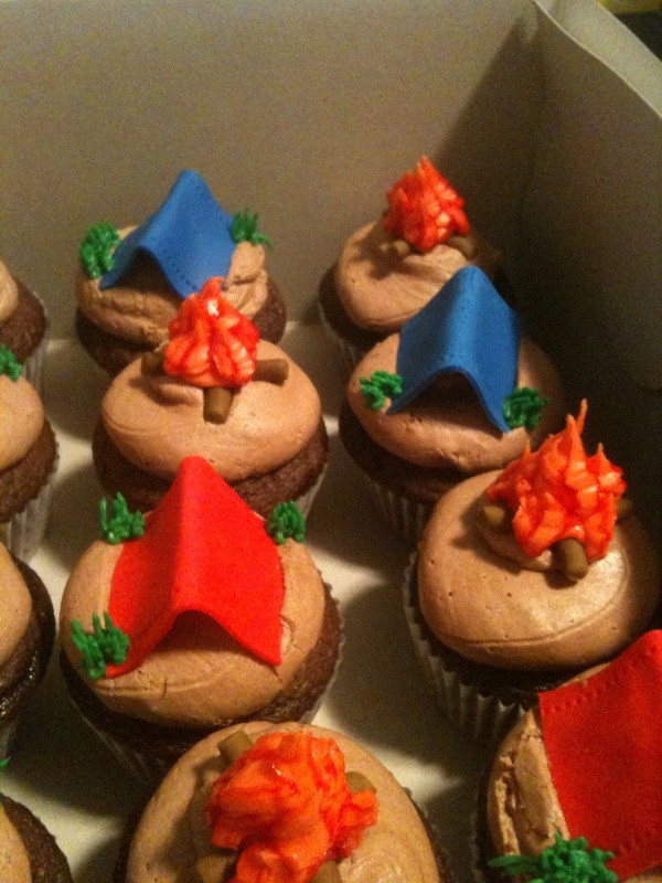 Camping Themed Cupcakes  Sugar on Top Never Enough Cupcakes
