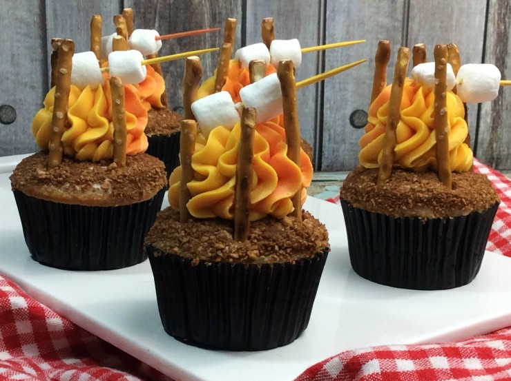 Camping Themed Cupcakes  Camp Fire Cupcakes Life Love Liz